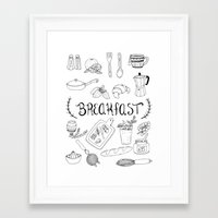 breakfast Framed Art Prints featuring Breakfast by Brooke Weeber