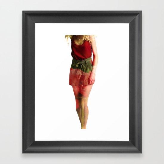 Ruby Love Framed Art Print