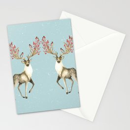 Deers With Birds #society6 #buyart Stationery Cards