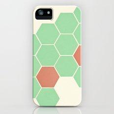 Mint Honeycomb iPhone (5, 5s) Slim Case