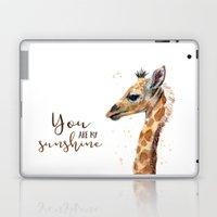 You Are My Sunshine Giraffe Nursery Animals Watercolor Art Laptop & iPad Skin