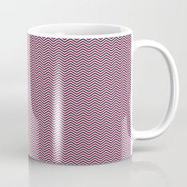 Red White and Blue Chevrons Coffee Mug