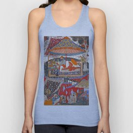 16th Century India Watercolor Painting Unisex Tank Top