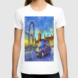 London Taxi Van Gogh T-shirt