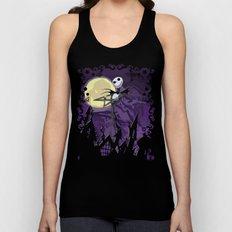 Halloween Purple Sky with jack skellington iPhone 4 4s 5 5c, ipod, ipad, pillow case tshirt and mugs Unisex Tank Top
