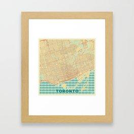 Toronto Map Retro Framed Art Print
