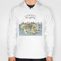 new york city Hoodies featuring New York City Love by Brooke Weeber
