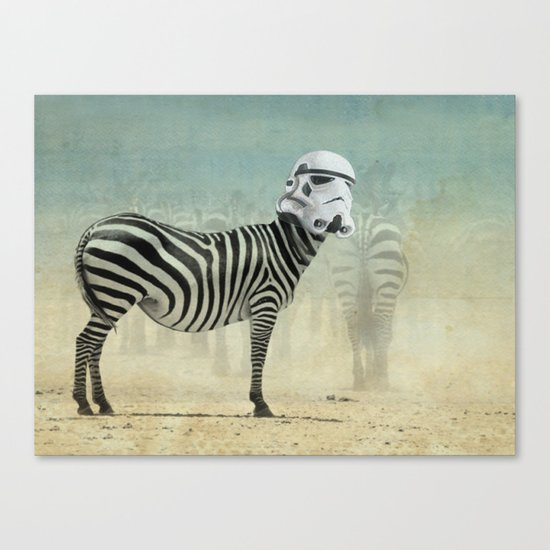 Trooper Stripes  _ Star Wars _ Zebra Canvas Print