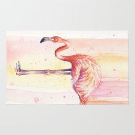 Flamingo Watercolor | Pink Rain Rug