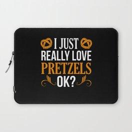 I Just really Love Pretzel oK? Pretzel Day Fun Pun Laptop Sleeve