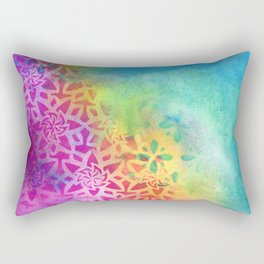 Between the pink and the blue Rectangular Pillow
