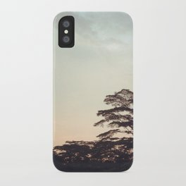 the faint sunset iPhone Case