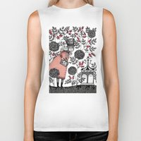 agnes Biker Tanks featuring Winter Garden by Judith Clay