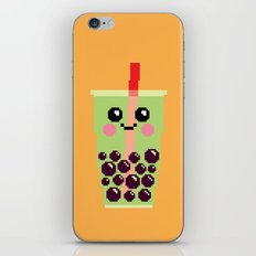Happy Pixel Bubble Tea iPhone & iPod Skin