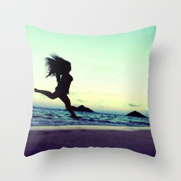 Dancing with the Wind 2 Throw Pillow
