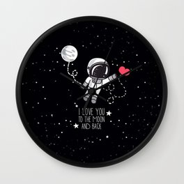 I love to The Moon and Back Wall Clock