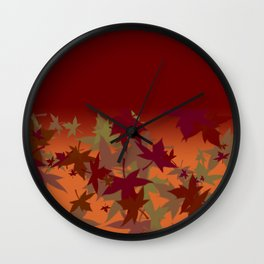 Colors of Fall Design Wall Clock
