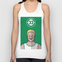larry Tank Tops featuring Larry Bird by Will Wild