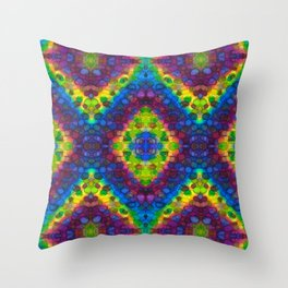 Polka Dots and Chevrons Throw Pillow