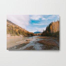 Autumn at Bird Creek Metal Print