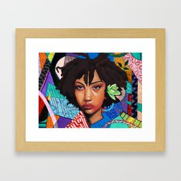 Patchwork of She Framed Art Print