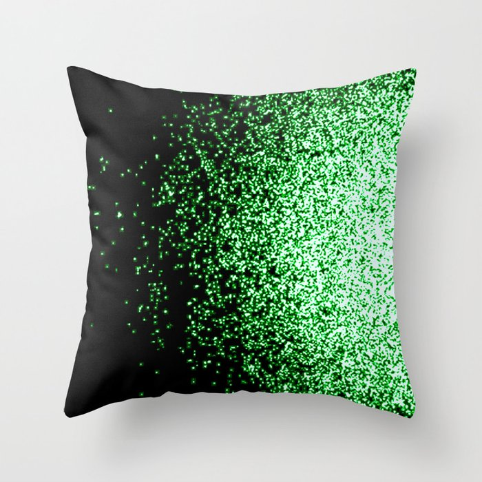 infinity in green Throw Pillow