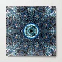 Mysterious space mandala Metal Print