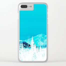 Turquoise Alaska - Pop Art I Clear iPhone Case