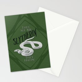 They See Me Slytherin Stationery Cards