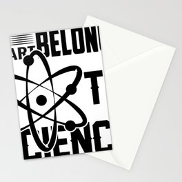 MY HEART BELONGS TO SCIENCE Stationery Cards