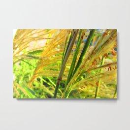 Seedy Weeds Metal Print