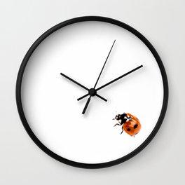 Ladybug on white background #decor #society6 Wall Clock
