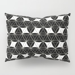 Flower of Life Pattern Rhomboids Pillow Sham