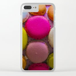 Colorful Macarons Tasty Dessert Treat Clear iPhone Case