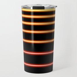 Red to Yellow Neon Travel Mug