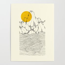 Sun and sea cliffs Poster