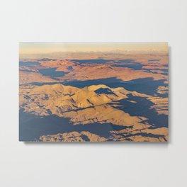 Andes Mountains Desert Aerial Landscape Scene Metal Print