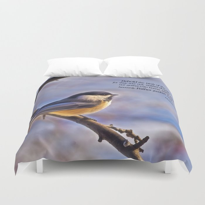 Behold the Birds Chick-a-dee Duvet Cover