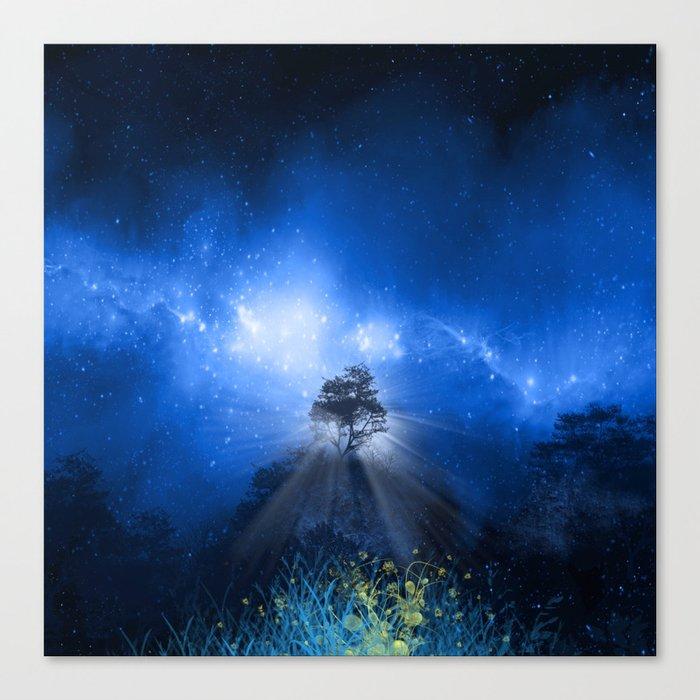 blue night landscape Canvas Print