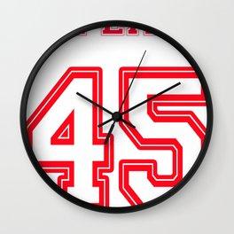 Impeach 45 Wall Clock