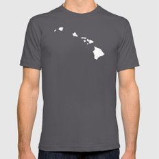 HAWAII Asphalt Mens Fitted Tee LARGE