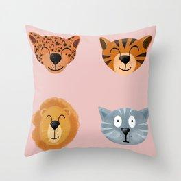 Scared cat Throw Pillow
