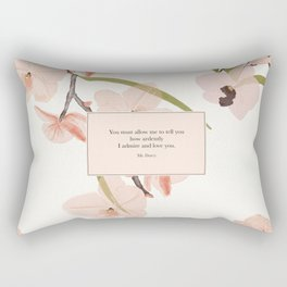 You must allow me...Mr. Darcy. Pride and Prejudice. Rectangular Pillow