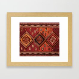 Persian Carpet Design Framed Art Print