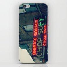 Chop Suey II ~ Chicago vintage neon sign iPhone & iPod Skin