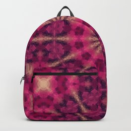 Kaleidoscope . Raspberry magic. Backpack