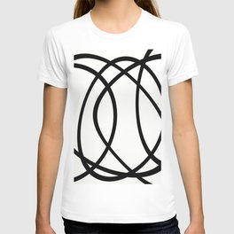Community - Black and white abstract T-shirt