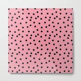Simply smashing - watermelon polkadots Metal Print