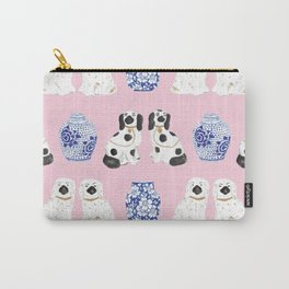 Staffordshire Dogs + Ginger Jars No. 4 Carry-All Pouch