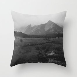 Moody Flatirons Throw Pillow